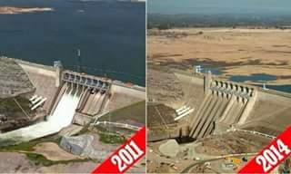 Danau Tiberias, Israel. 2011 dan 2014