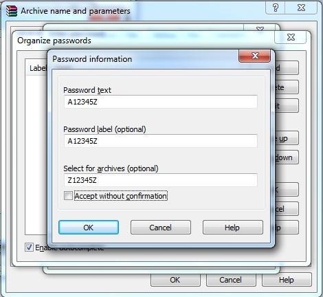 5 - Set Pasword RAR Files Folder