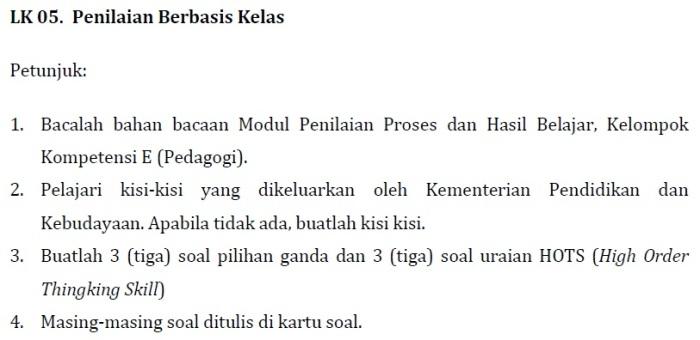 LK 05 Modul KK F Profesional PKB SD Kelas Bawah