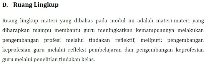 Resume Modul KK J Profesional PKB SD Kelas Bawah