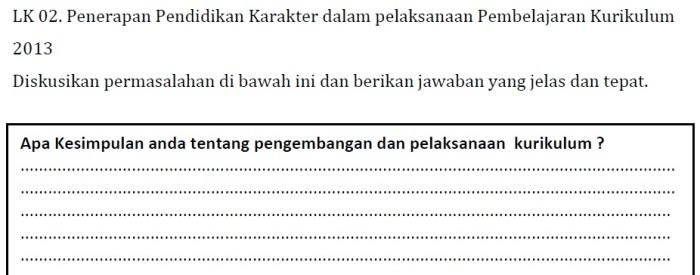 LK 02 KK C Pedagogik PKB SD Kelas Bawah (Bag. 1)