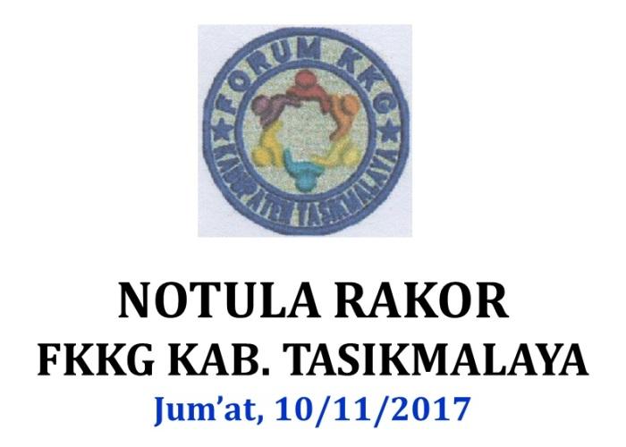 Profil Notula Rakor FKKG 10-11-2017
