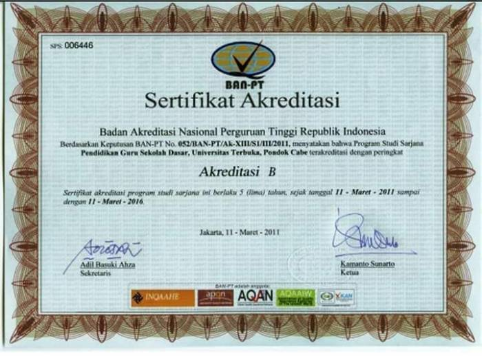 Sertifikat BAN PT PGSD UT 2011.jpg
